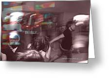 Dance Swirl Greeting Card by Angela Williams Duea