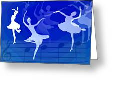Dance The Blues Away Greeting Card by Joyce Dickens