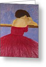 Dancer In The Red Dress Greeting Card by David Patterson