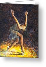 Dancer Viii Greeting Card by Nik Helbig