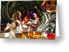 Dancers Of Callejon De Hamel Greeting Card by Trish Oliveira