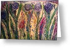 Dancing Among The Flowers Greeting Card by Ed Akers