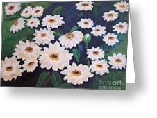 Dancing Dasies Greeting Card by Lucia Grilletto