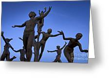 Dancing Figures Greeting Card by Brian Jannsen