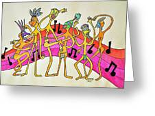 Dancing Happy People Greeting Card by Glenn Calloway