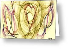 Dancing Heart Greeting Card by Marian Palucci
