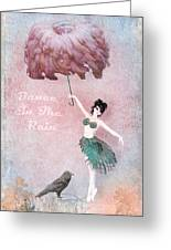 Dancing In The Rain Greeting Card by Terry Fleckney