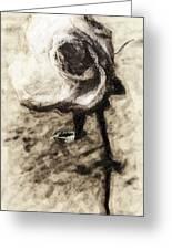 Dancing Rose Greeting Card by Ron Regalado