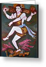 Dancing Siva Greeting Card by Anand Swaroop Manchiraju