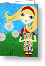 Dandelion Wishes Greeting Card by Laura Bell