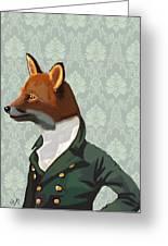 Dandy Fox Portrait Greeting Card by Kelly McLaughlan