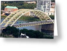 Daniel Carter Beard Bridge Cincinnati Ohio Greeting Card by Paul Velgos