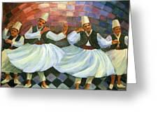 Daraweesh Dancing. Greeting Card by Laila Awad  Jamaleldin