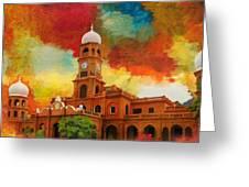Darbar Mahal Greeting Card by Catf