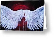 Dark Angel Greeting Card by Stacey Pilkington-Smith
