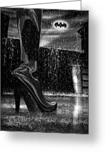 Dark Knight Shinny Boots Of  Leather Greeting Card by Bob Orsillo