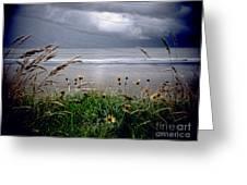 Dark Outlook Greeting Card by Karen Lewis