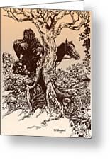 Dark Rider-tolkien Appreciation Greeting Card by Derrick Higgins