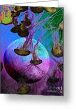 Dark Side Of The Moon 5d24939 Painterly P88 Greeting Card by Wingsdomain Art and Photography
