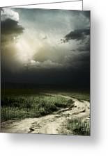 Dark Storm Cloud Greeting Card by Boon Mee