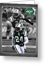 Darrelle Revis Jets Greeting Card by Joe Hamilton