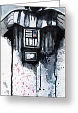 Darth Vader Greeting Card by David Kraig