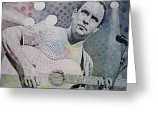Dave Matthews All the Colors Mix Together Greeting Card by Joshua Morton