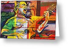 Dave Matthews-bartender Greeting Card by Joshua Morton