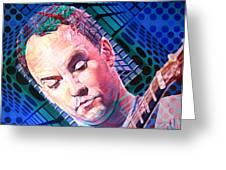 Dave Matthews Open Up My Head Greeting Card by Joshua Morton