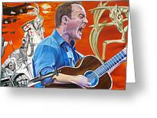 Dave Matthews The Last Stop Greeting Card by Joshua Morton