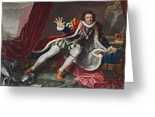 David As Richard IIi, Illustration Greeting Card by William Hogarth
