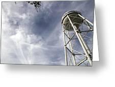 Davis Water Tower Greeting Card by Juan Romagosa