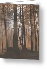 Dawn Greeting Card by Albert Casson