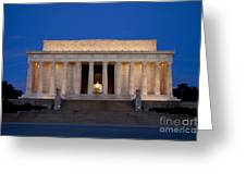 Dawn At Lincoln Memorial Greeting Card by Brian Jannsen