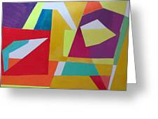 Abstract Angles Vii Greeting Card by Diane Fine