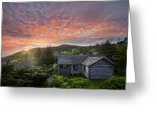 Dawn Over Leconte Greeting Card by Debra and Dave Vanderlaan