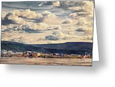 Dawson City Greeting Card by Priska Wettstein