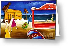 Day At The Beach Greeting Card by William Cain