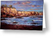 Daybreak At Montana De Oro Beach Greeting Card by R W Goetting