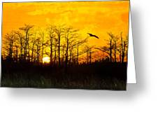 Day's End Greeting Card by Debra and Dave Vanderlaan