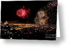 Dazzling Fireworks IIi Greeting Card by Ray Warren