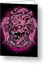 Dcla Cold Dead Hand Zombie Pink 2 Greeting Card by David Cook Los Angeles
