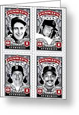 Dcla Fenway's Finest Combo Stamp Art Greeting Card by David Cook Los Angeles