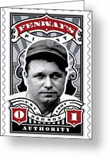 Dcla Jimmie Fox Fenway's Finest Stamp Art Greeting Card by David Cook Los Angeles