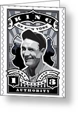 Dcla Lou Gehrig Kings Of New York Stamp Artwork Greeting Card by David Cook Los Angeles