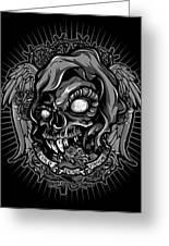 Dcla Skull Cold Dead Hand Gray 3 Greeting Card by David Cook Los Angeles