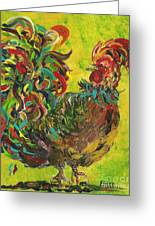 De Colores Rooster #2 Greeting Card by Eloise Schneider