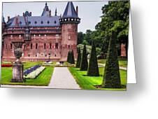 De Haar Castle 2. Utrecht. Netherlands Greeting Card by Jenny Rainbow