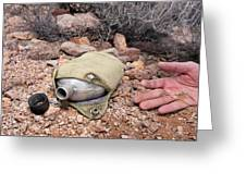 Dead Hiker And Empty Canteen Greeting Card by Joe Belanger