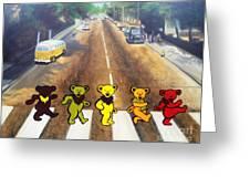 Dead On Abbey Road Greeting Card by Jen Santa
